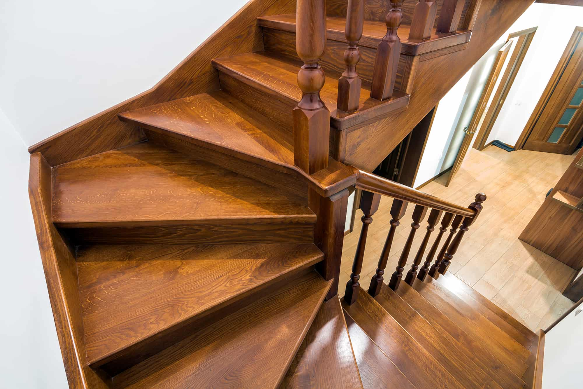 Close Up - Wooden Stairs